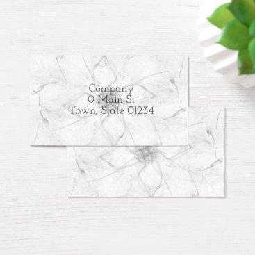 Professional Business Flower Stencil Design Business Cards