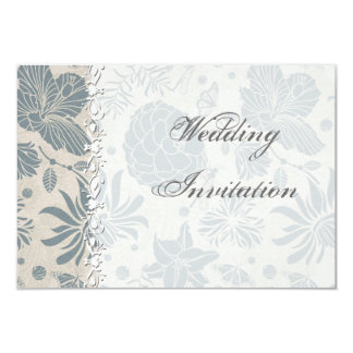 Flower Stencil Wedding Invitation Card