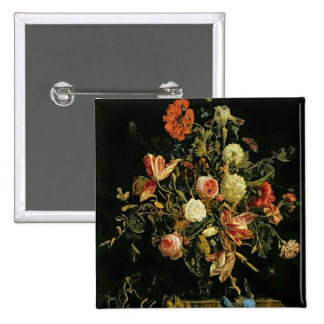Flower Still Life, 1706 2 Inch Square Button