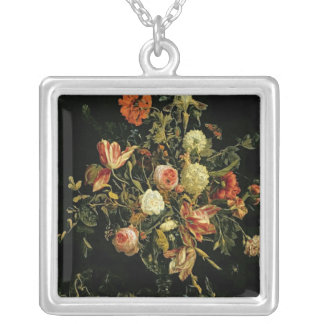 Flower Still Life, 1706 Silver Plated Necklace