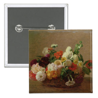 Flower Still Life 2 Inch Square Button