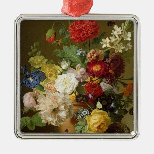 Flower Still Life on a marble ledge, 1800-01 Metal Ornament