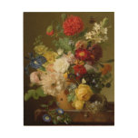 Flower Still Life on a marble ledge, 1800-01 Wood Canvases