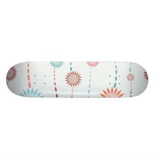 flower strings whimsical vector pattern 2.ai skateboard deck