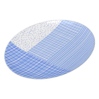 flower stripes, & checkered motif 3 Melamine Plate