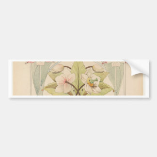 Flower Study 2 - French style portrait Bumper Sticker