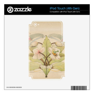 Flower Study 2 - French style portrait iPod Touch 4G Skin