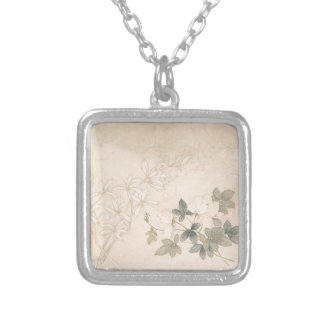 Flower Study 2 - Yun Bing (Chinese) Silver Plated Necklace