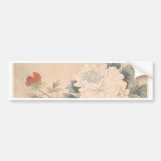 Flower Study - Yun Bing (Chinese) Bumper Sticker