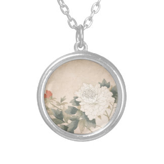 Flower Study - Yun Bing (Chinese) Silver Plated Necklace
