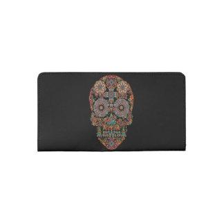 Flower Sugar Skull Checkbook Cover