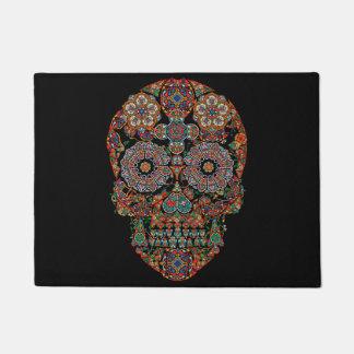 Flower Sugar Skull Doormat