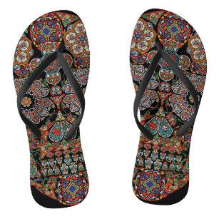 a0fa60903520a Sugar Skull Sandals   Flip Flops