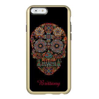 Flower Sugar Skull Monogram iPhone 6 Case