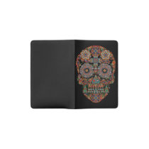 Flower Sugar Skull Pocket Moleskine Notebook