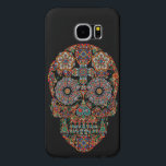 "Flower Sugar Skull Samsung Galaxy S6 Case<br><div class=""desc"">Flower Sugar Skull Case-Mate Barely There Samsung Galaxy S6 Case. The Case-Mate Barely There Samsung Galaxy S6 Case is an impact resistant plastic case that protects the back and sides of your phone and shows off the slim profile of your S6. Printed to the edge with your custom photos, art,...</div>"