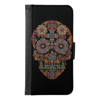Flower Sugar Skull Samsung Galaxy S6 Wallet Case