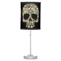 Flower Sugar Skull Table Lamp