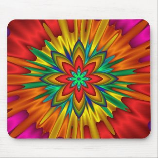Flower Sunburst Mousepad