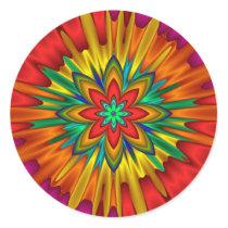 Flower Sunburst Sticker