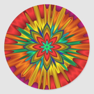 Flower Sunburst Sticker