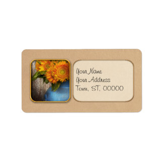 Flower - Sunflower - Country Sunshine Personalized Address Labels