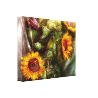 Flower - Sunflower - Gardeners toolbox Canvas Print