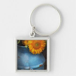 Flower - Sunflower - Little blue sunshine Keychain
