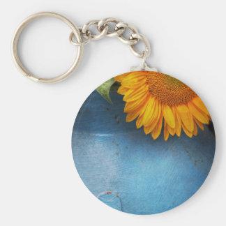 Flower - Sunflower - Little blue sunshine Key Chains