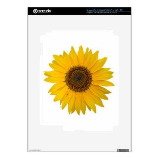Flower Sunflower - open yellow blossom Skin For iPad 3