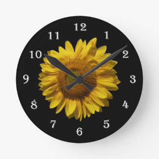 Flower Sunflower Wall Clock - Mammoth Sunflower
