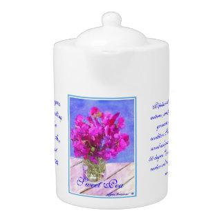 Flower Sweet Pea Teapot