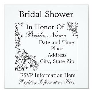 Flower Swirl Bridal Shower Invitation