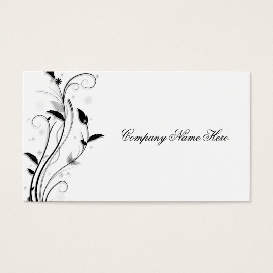flower swirl business card
