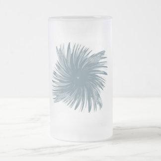 Flower Swirl Frosted Glass Beer Mug