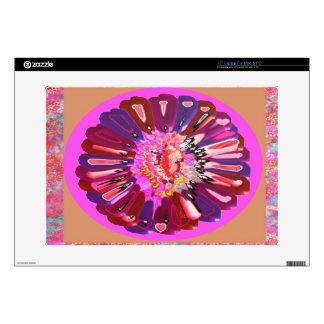 Flower Talk - Open your heart Laptop Decals
