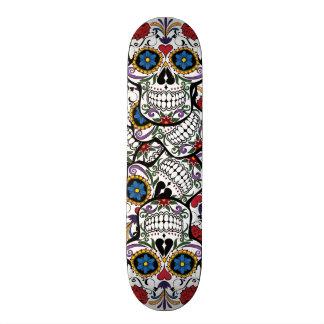 Flower Tattoo Skull Roses Heart Skateboard Deck