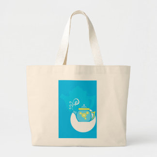 Flower Tea Canvas Bag