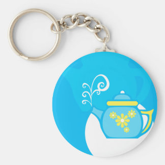 Flower Tea Keychain