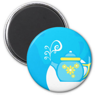 Flower Tea Refrigerator Magnet