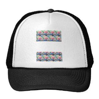 Flower Template Strip add TEXT IMAGE Photo DIY FUN Mesh Hats