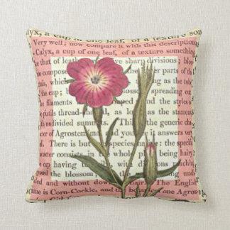 Flower Text Throw Pillow