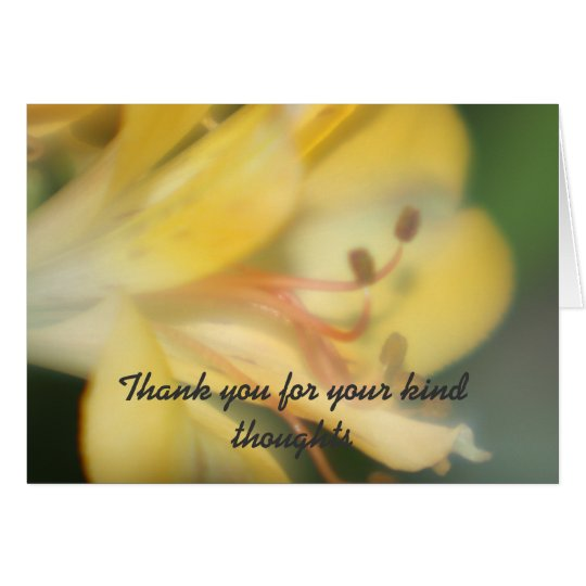 Flower Thank you for your kind thoughts Card