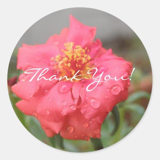 Flower Thank You Sticker