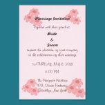 Flower themed wedding invitation