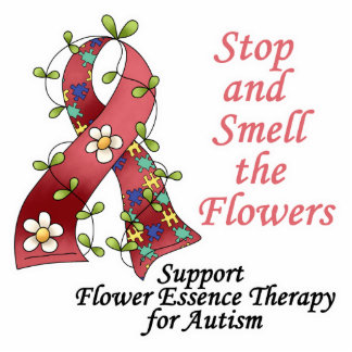 Flower Therapy for Autism Standing Photo Sculpture