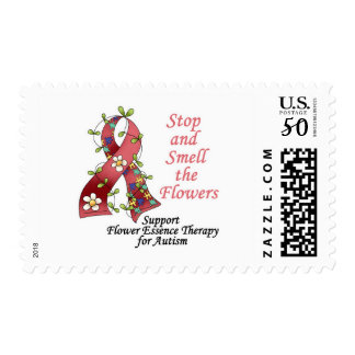 Flower Therapy for Autism Postage