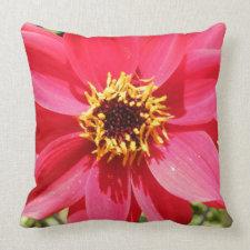 Flower Throw Pillow - Pink Flower