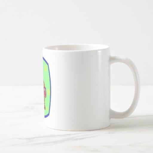 Flower Tiger Classic White Coffee Mug