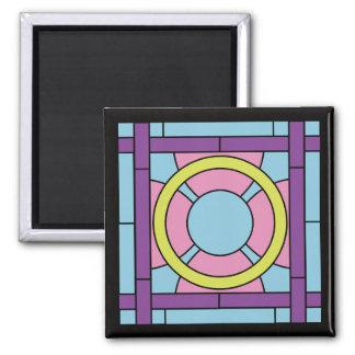 Flower Tile Art Deco Magnet